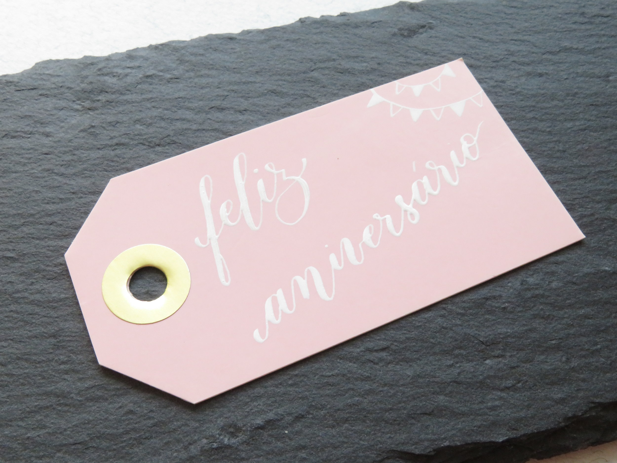 Storytime Calligraphy Design Etiqueta de Aniversário