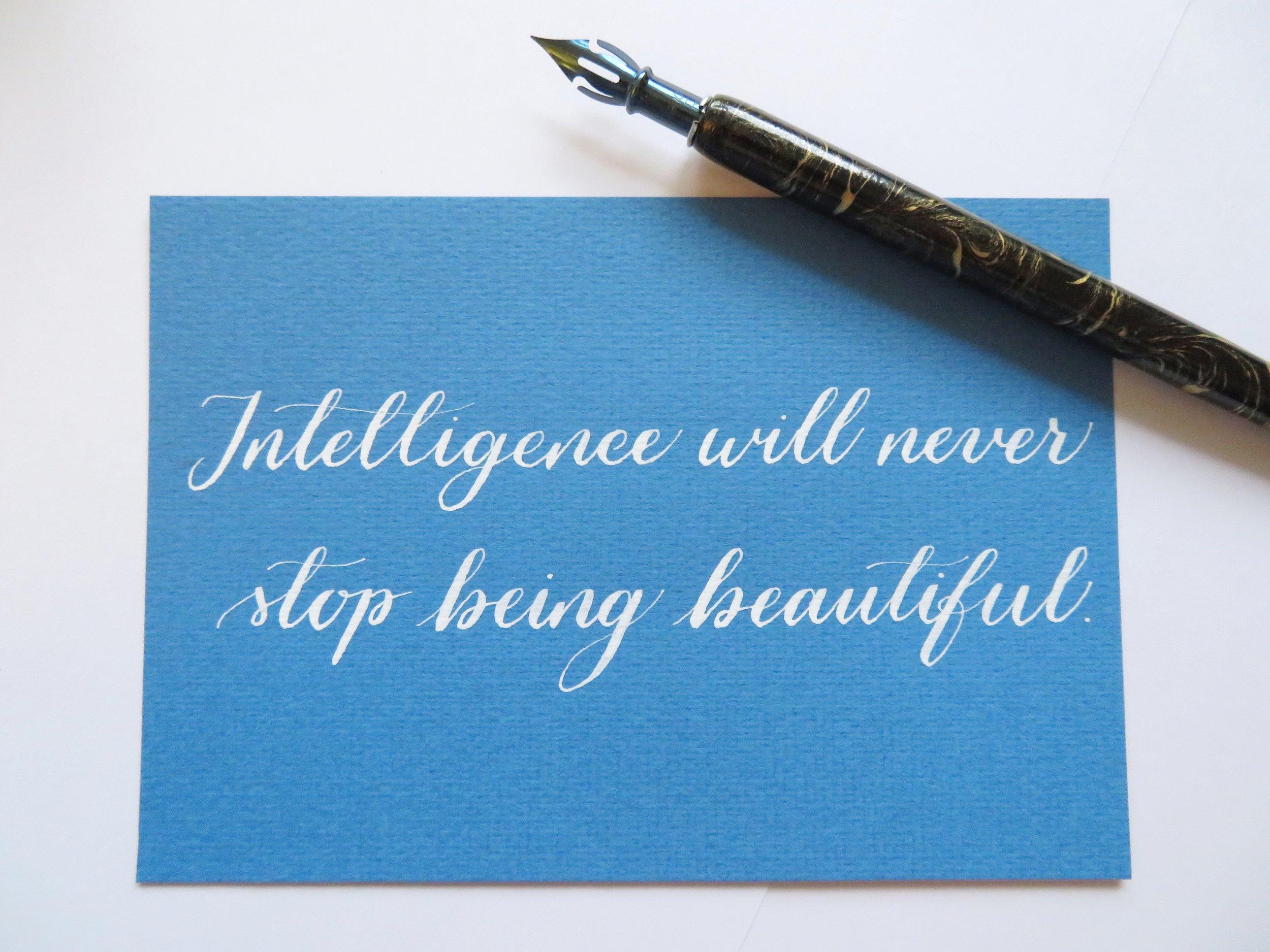 Storytime Calligraphy & Design Inteligência Frase