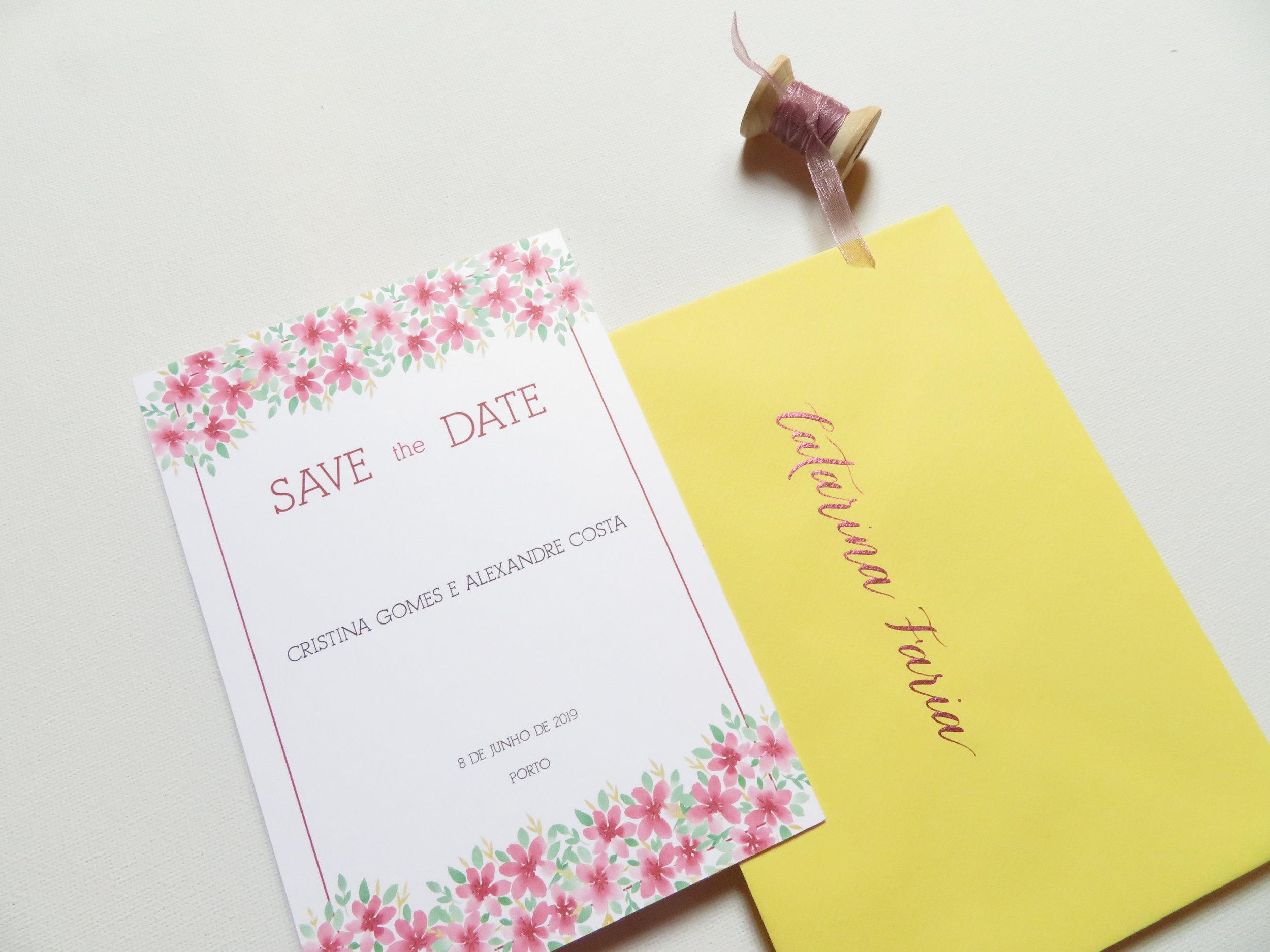 SAVE the DATE - Para que ninguém falte ao teu grande dia não há nada melhor que enviar SAVE THE DATE.