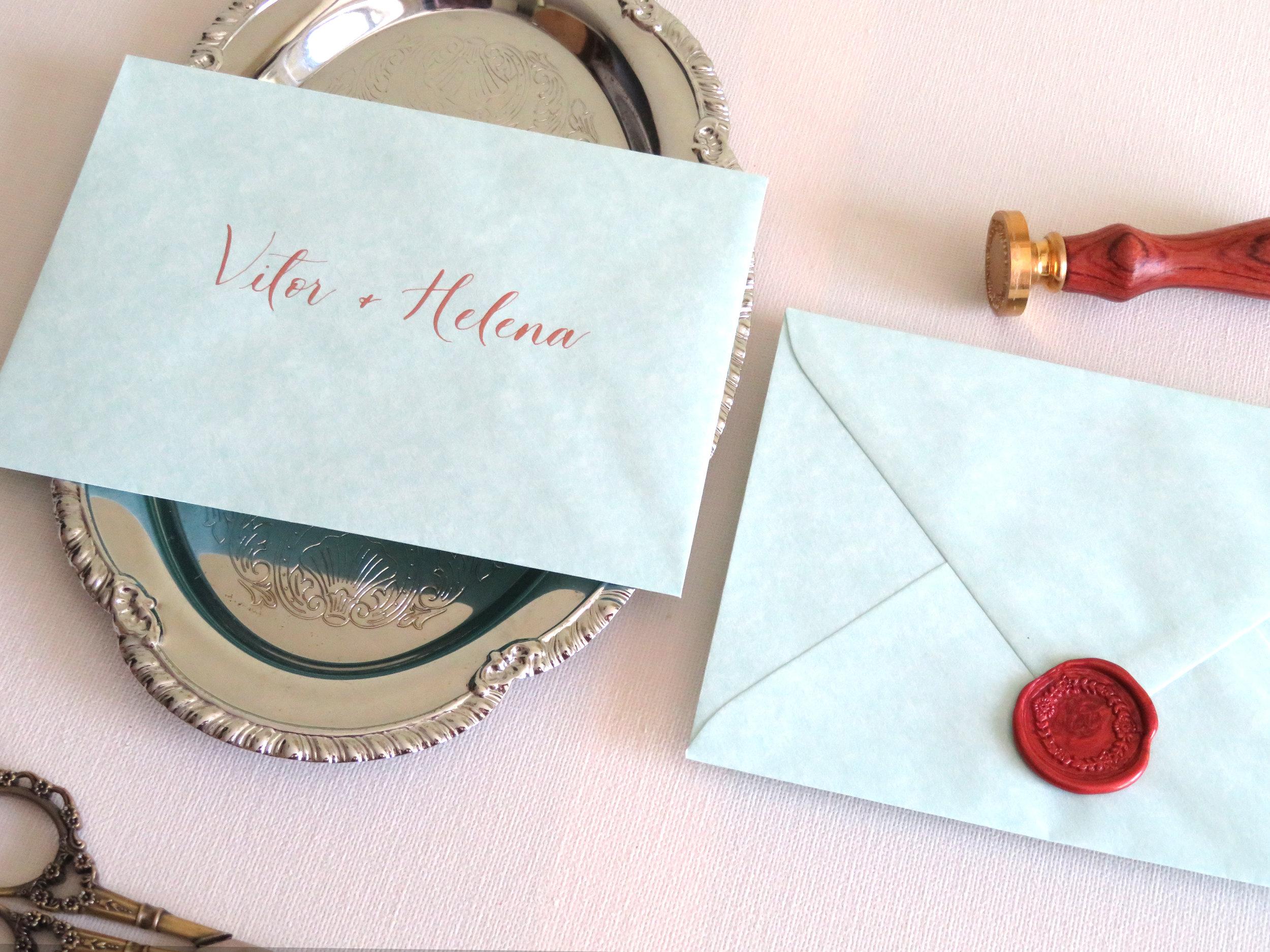 Lacre, Envelopes de Casamento Porto