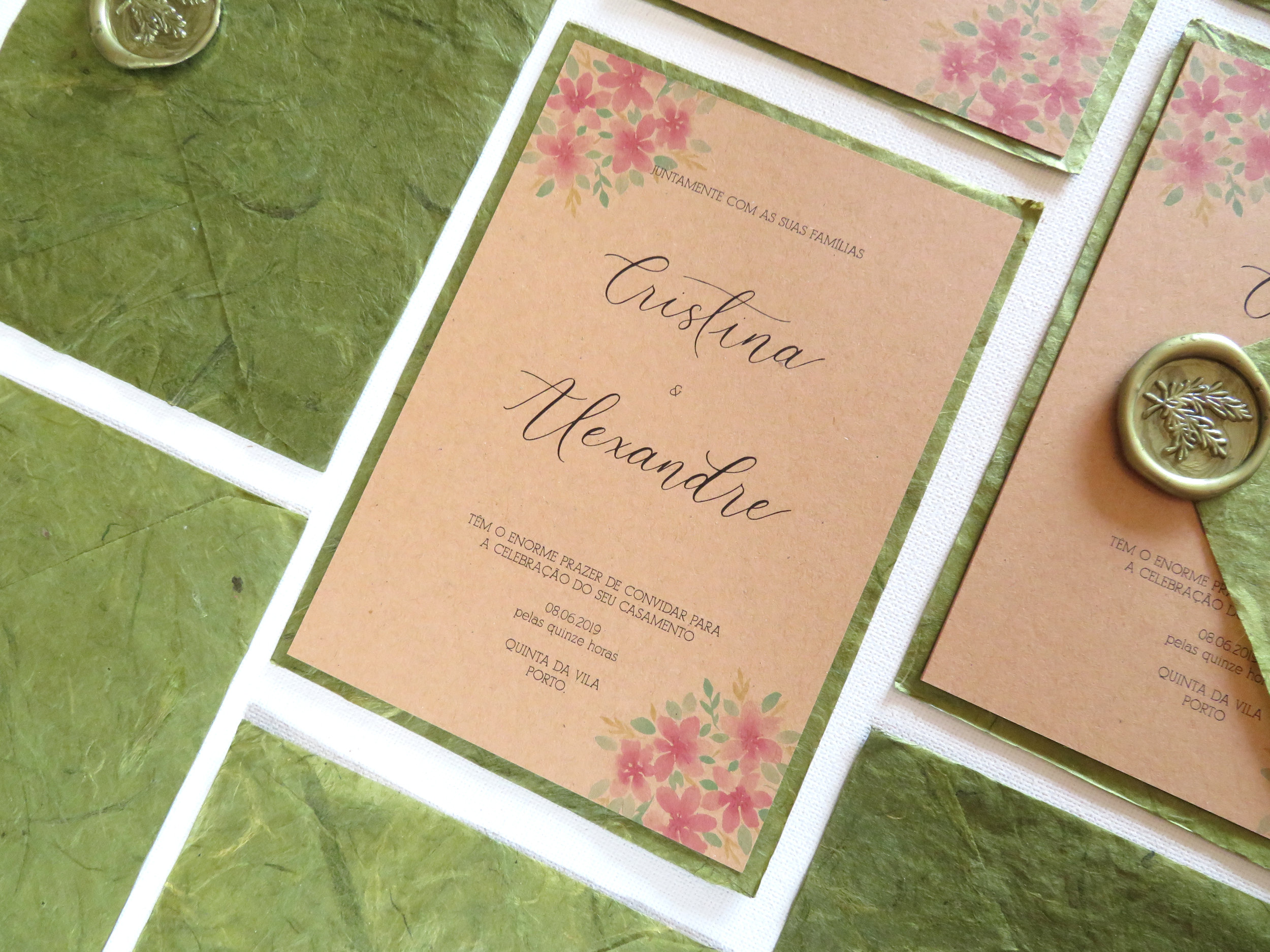 Convite de Casamento Porto