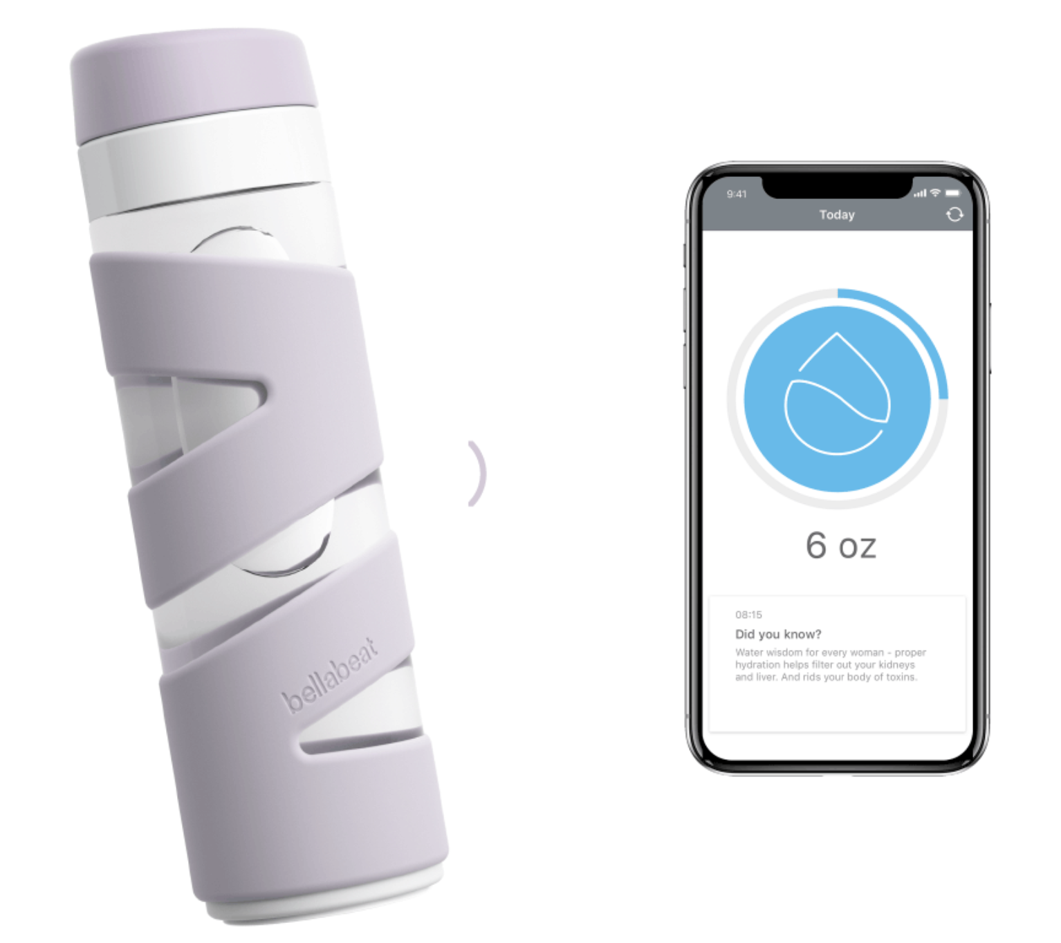 Smart water bottles (Like  this one here  ) can help track water intake