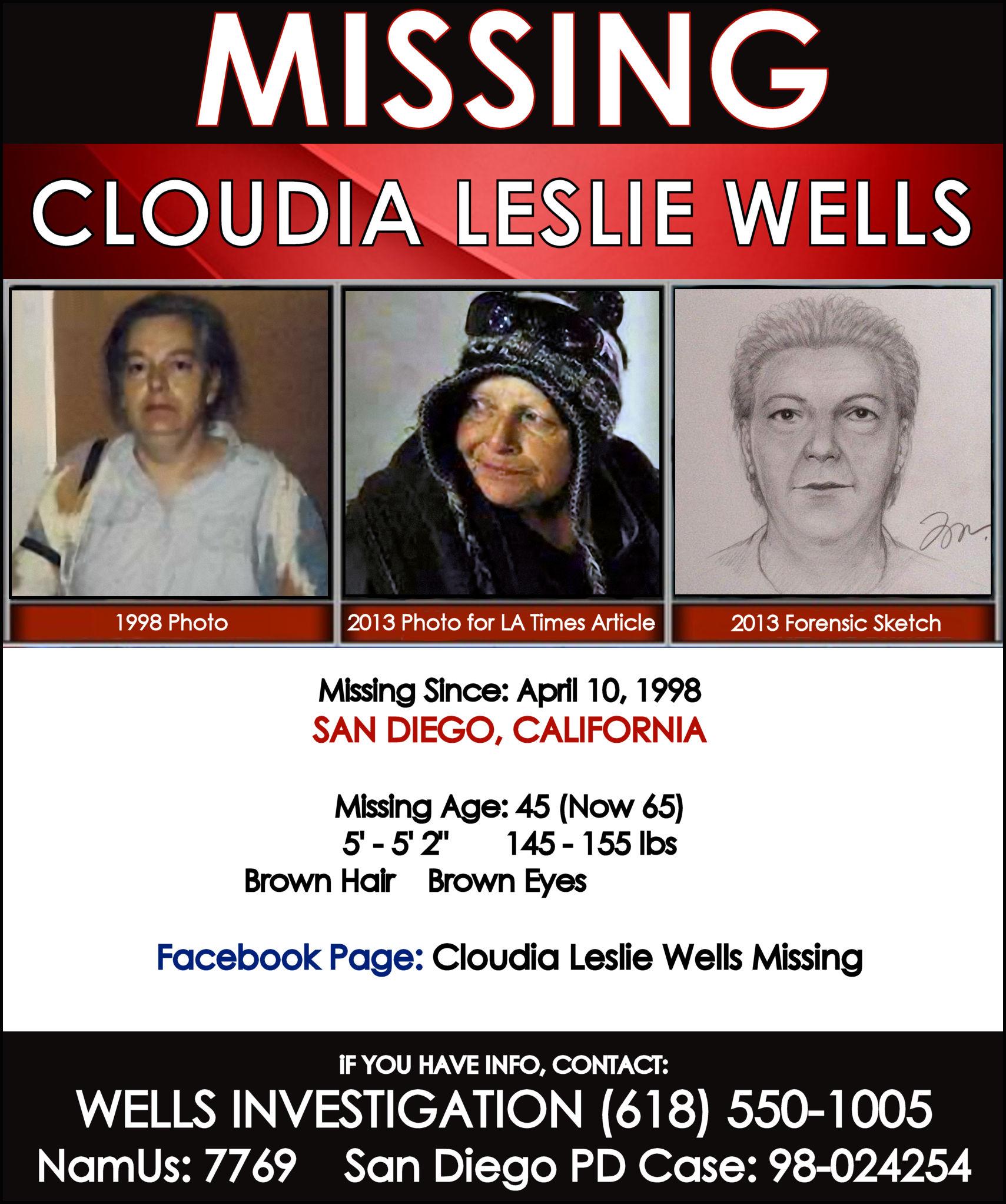 CLOUDIA LESLIE WELLS