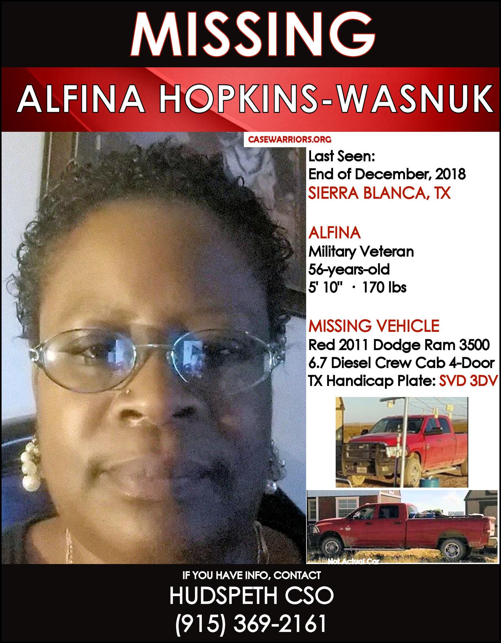 ALFINA HOPKINS-WASNUK