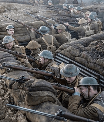 WW1 soldiers in a trench