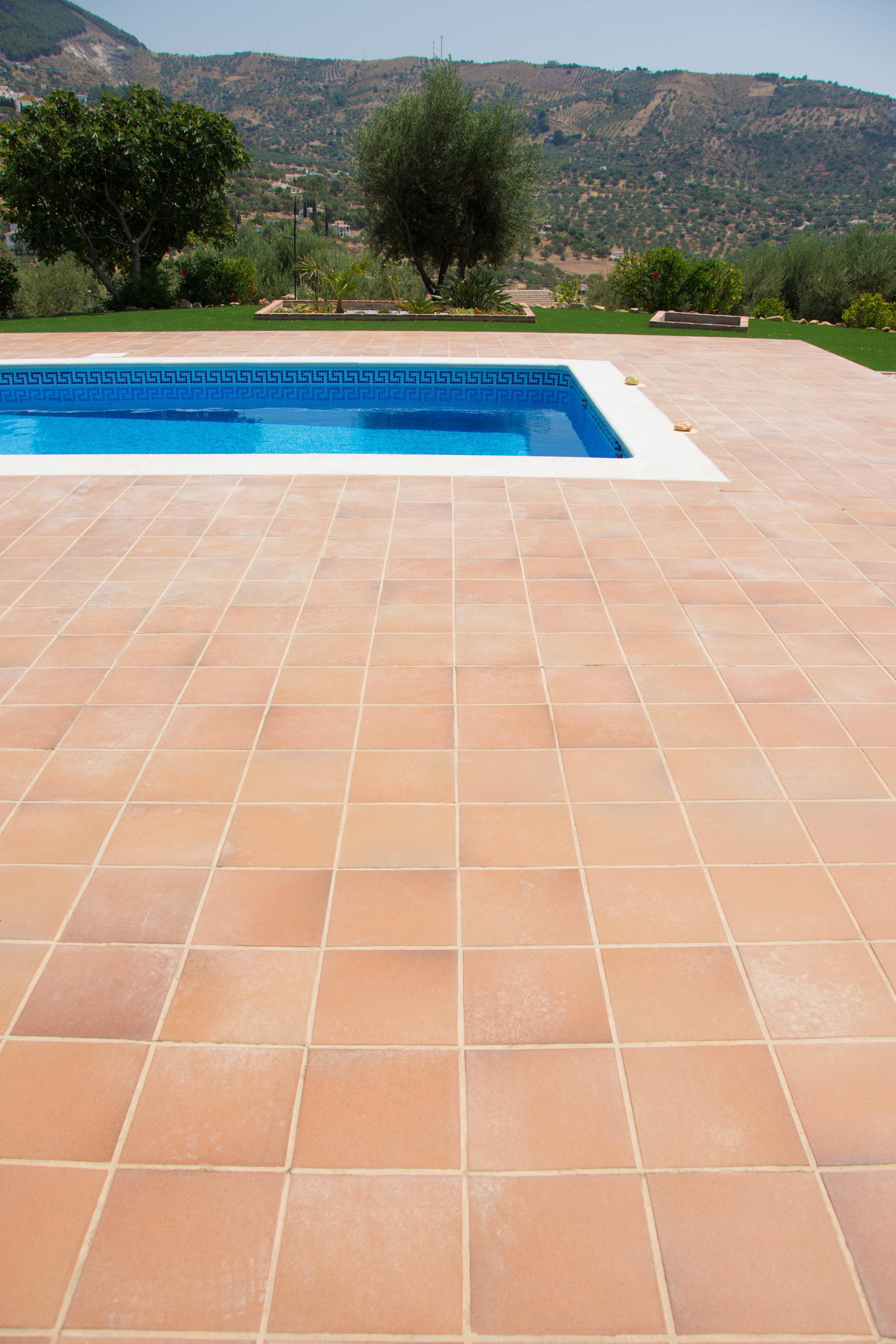 Patio construction in Malaga, Spain