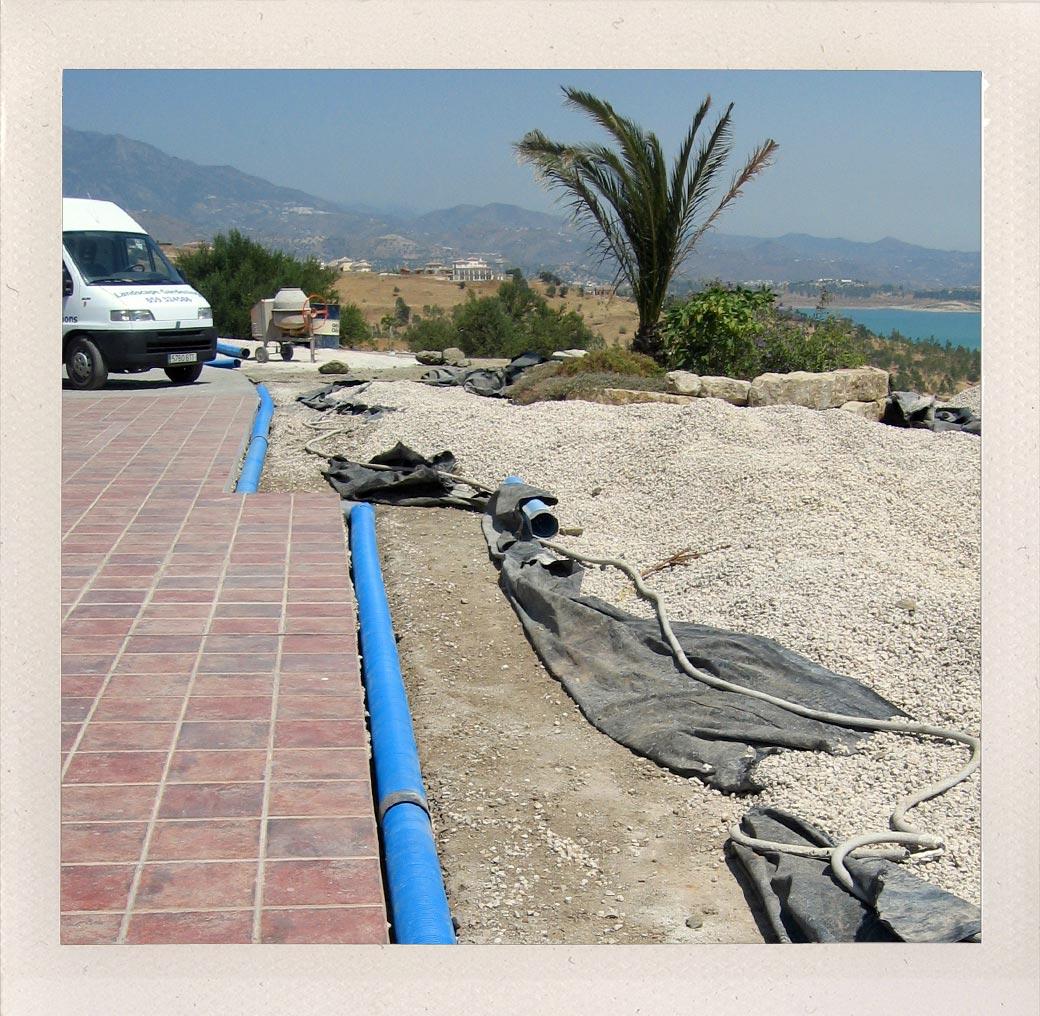 Land drainage construction, Malaga