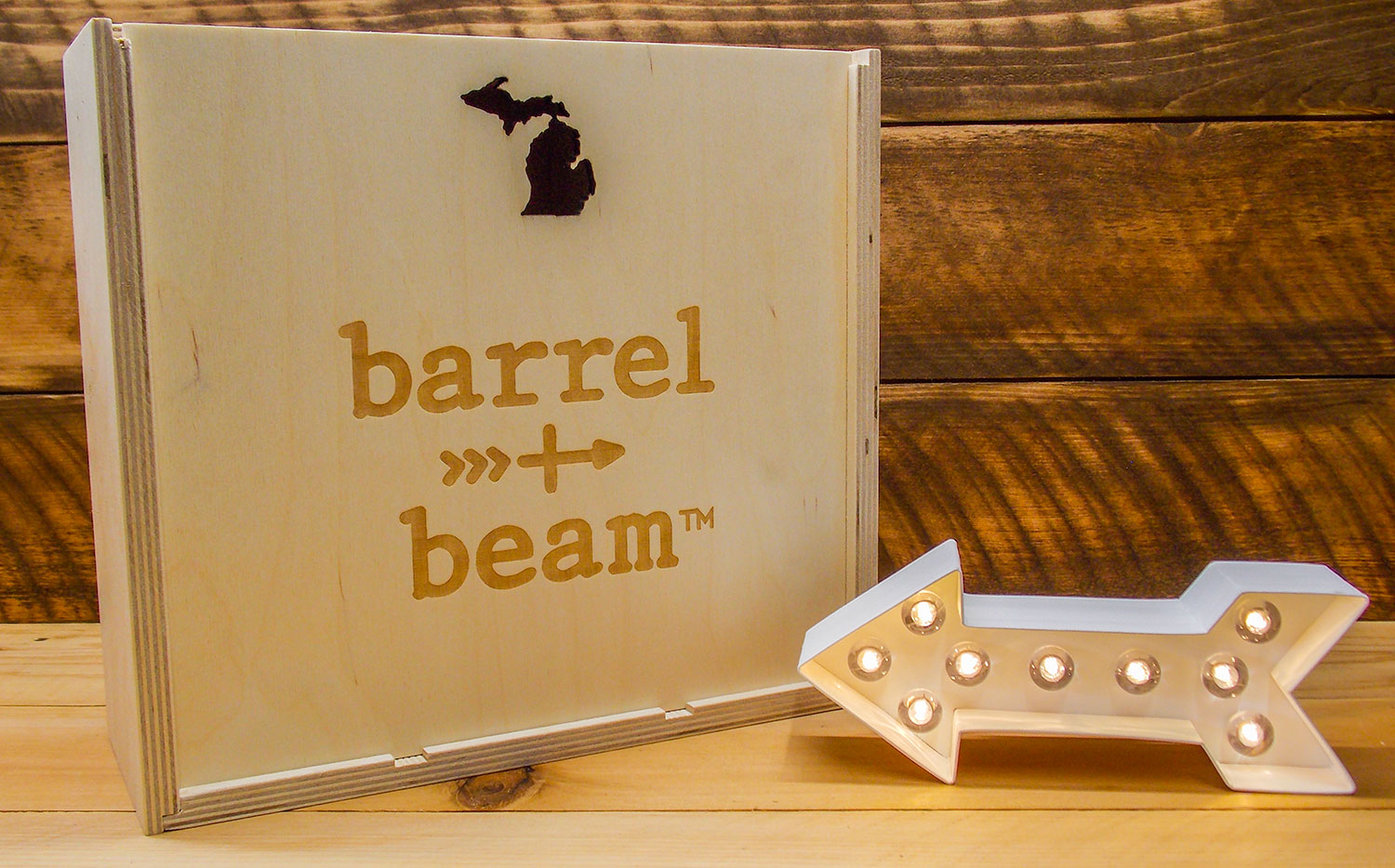 Barrel and Beam gift box with logo