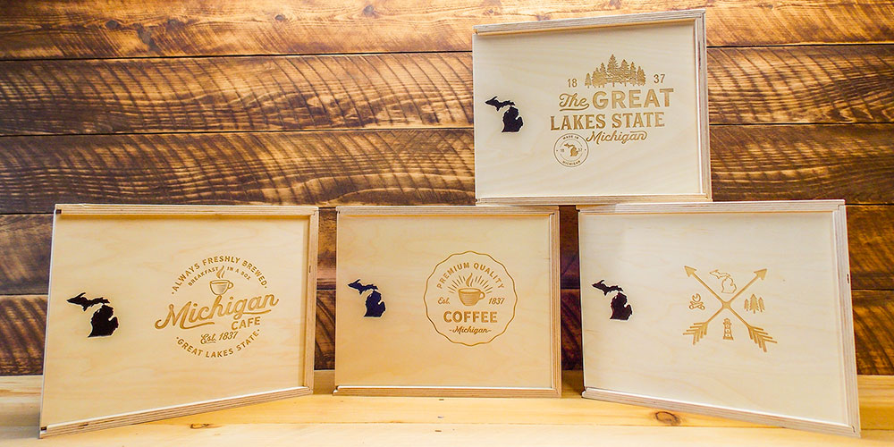 Michigan gift box display