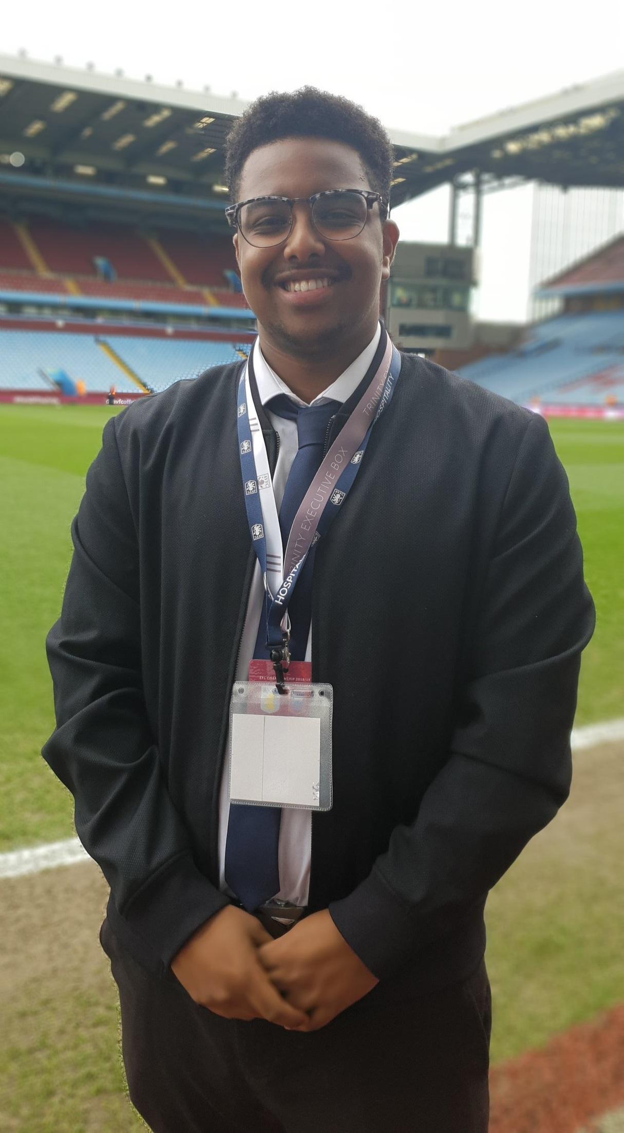 Saeed Ali,  President of Enactus Aston