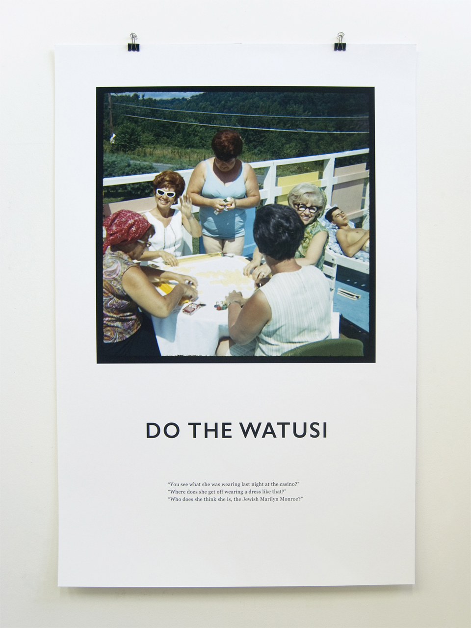 Do the Watusi From the series Dirty Dancing, 2017 Archival fine art print on Hahnemuhle paper, suite of 16 prints at 36 x 24 in each