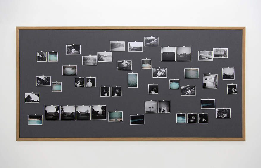 I drove through the hills, looking for something (Marlowe) 2012–13 43 C-type / gelatin silver prints on pin board, 47 x 94.5 in