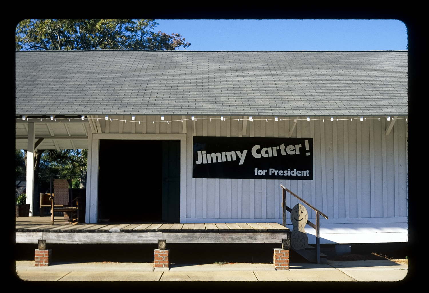 Jimmy Carter's Presidenial Campaign Headquarters, Plains, Georgia 35mm color slide From the book 13 Presidents Published by  Slimvolume  (2016)