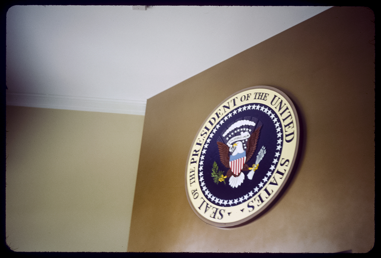 Presidential Seal, Dallas, Texas 35mm color slide From the book 13 Presidents Published by  Slimvolume  (2016)