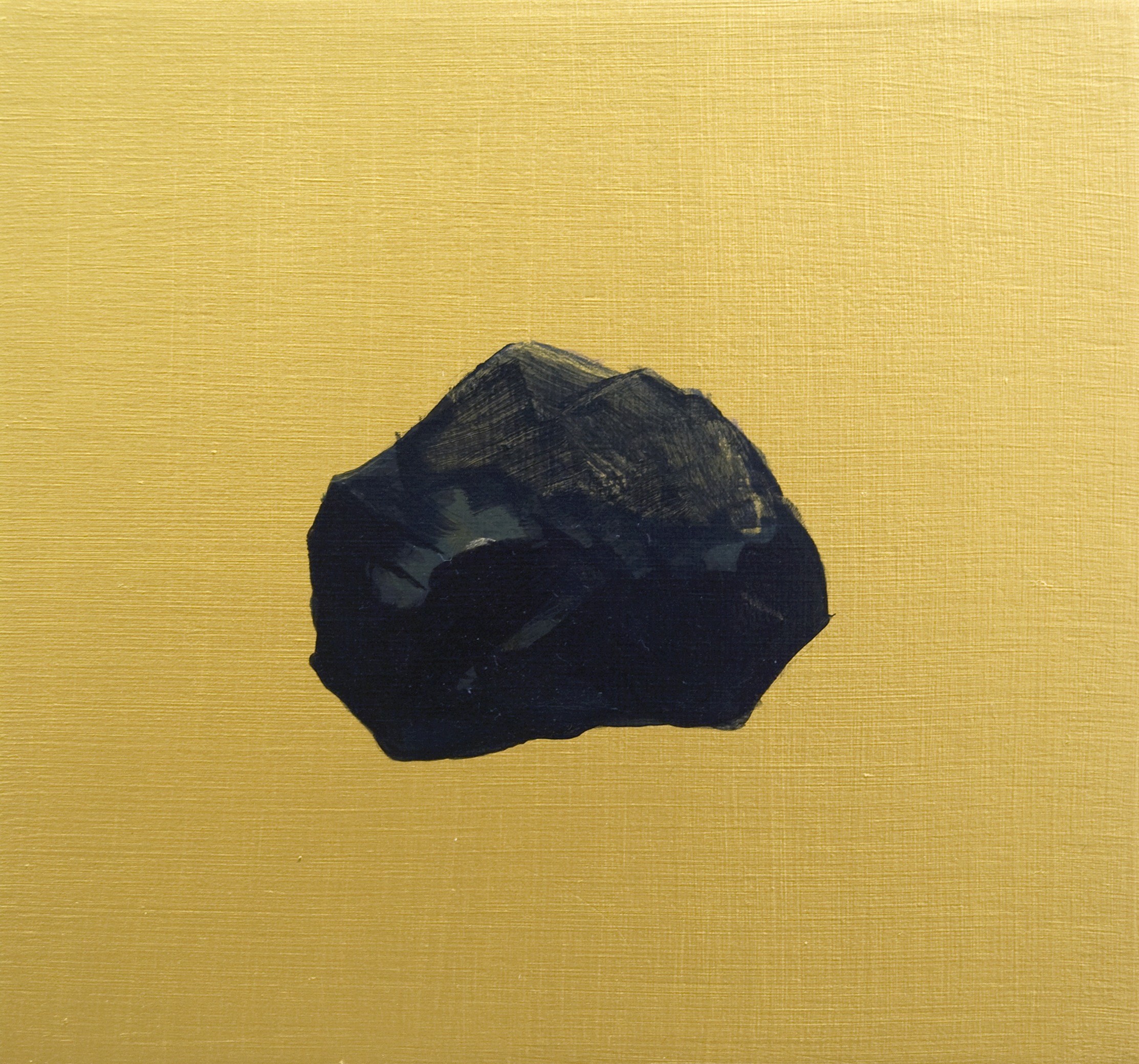 Coal 1 2017 Acrylic on birch ply, 6 x 6 in