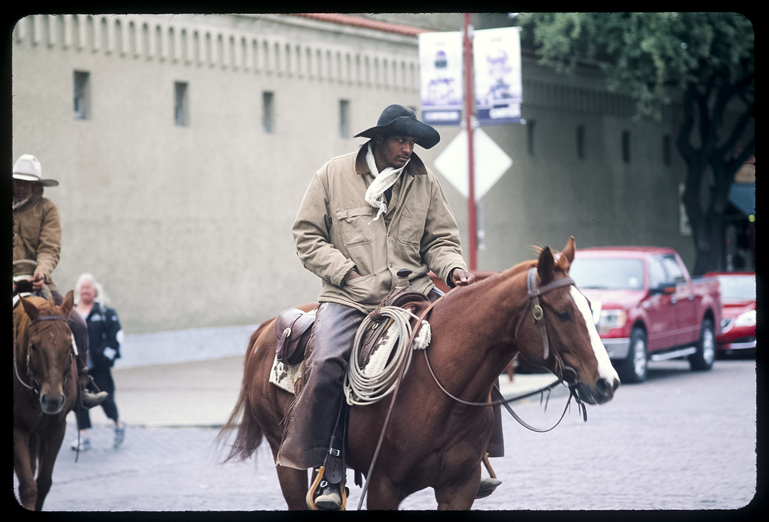 Cowboy, Fort Worth, Texas 35mm color slide From the book 13 Presidents Published by  Slimvolume  (2016)