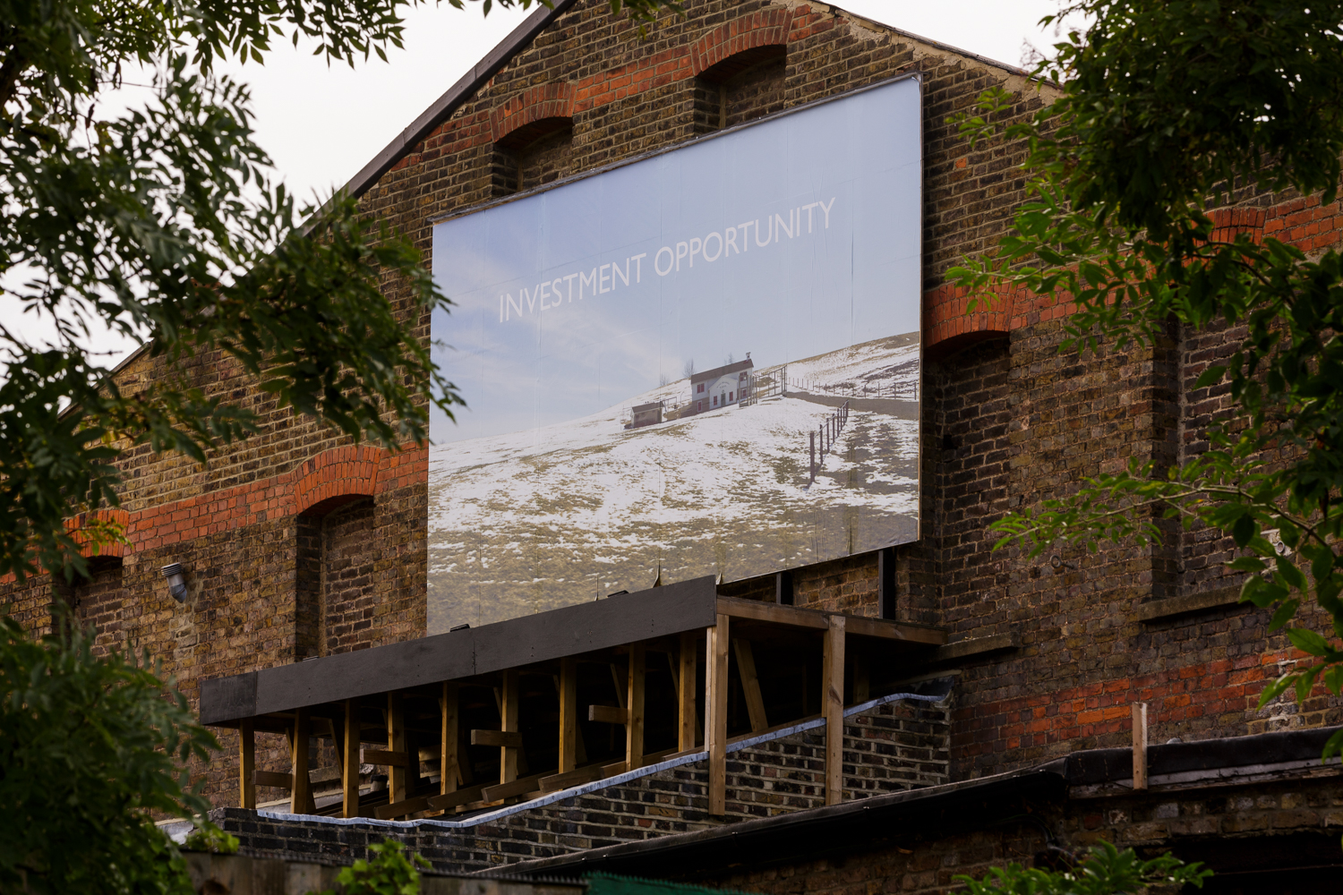 Investment Opportunity 2018 Billboard commission, Kingsgate Project Space, London