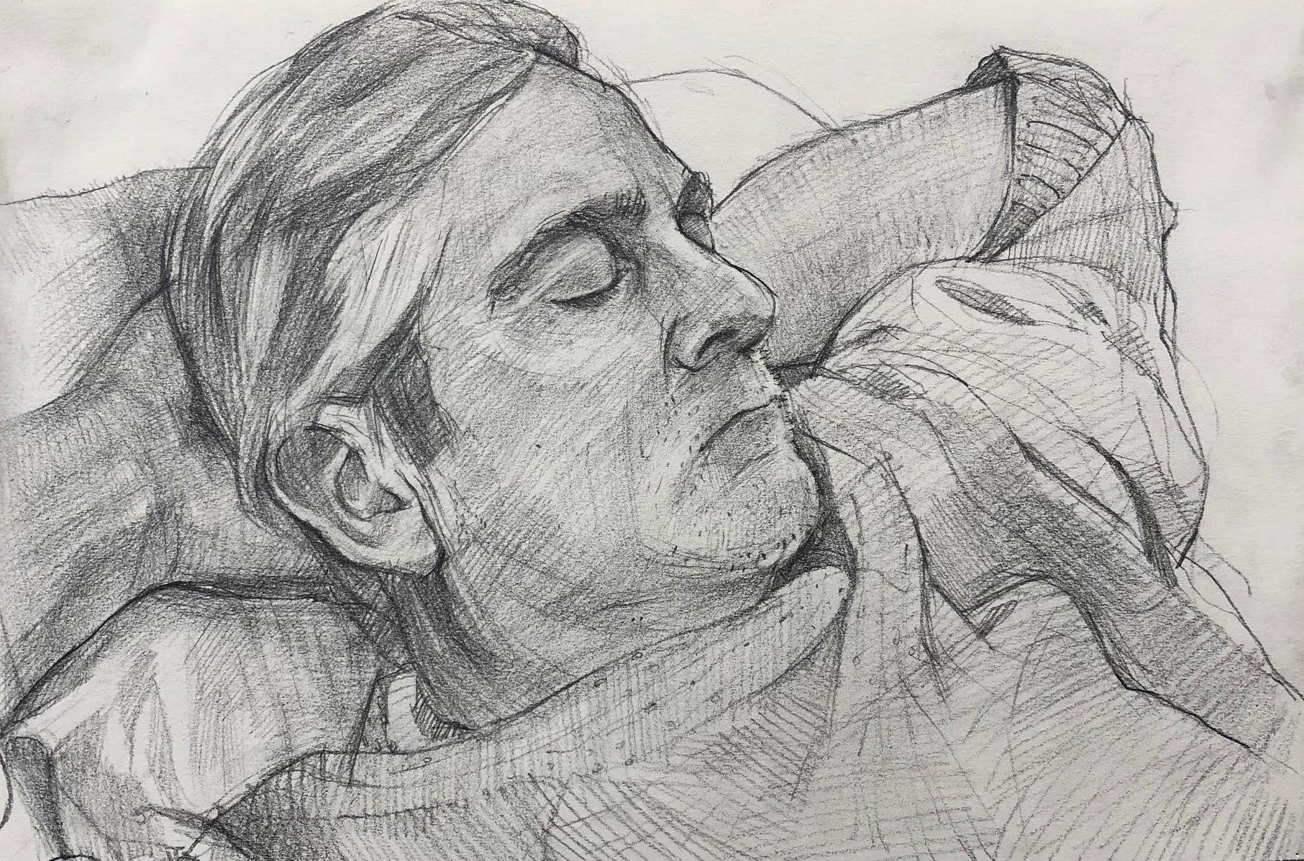 Dad sleeping
