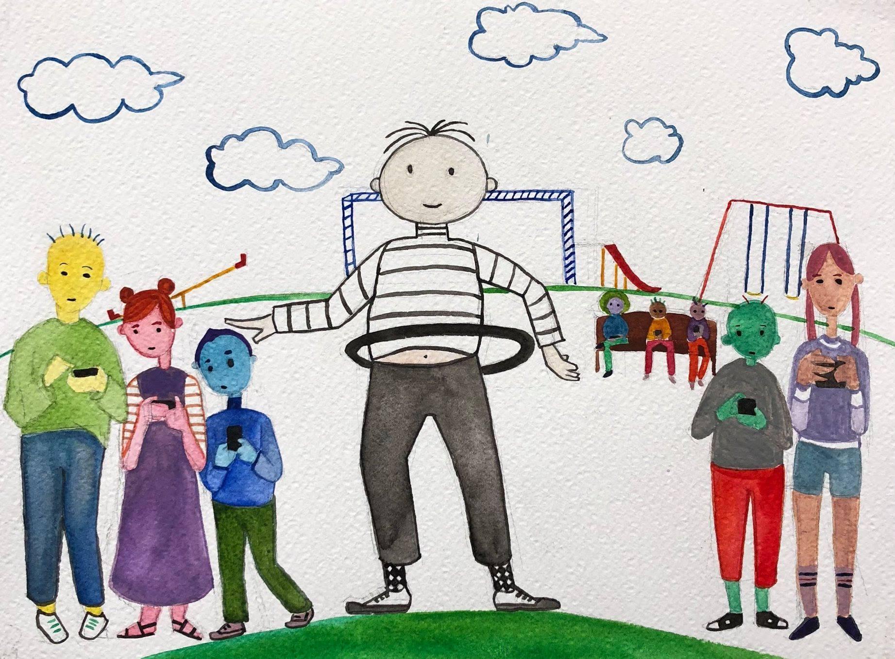 Hula Hoop Harry at school