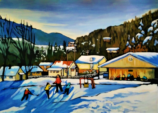 Skating In The Shadows 24x30