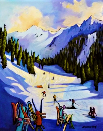 Whitewater Winter 20x30