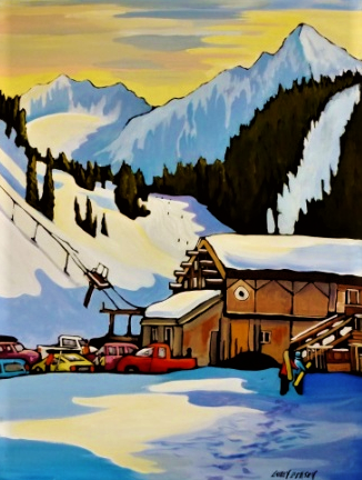 Up at the Lodge 24x30