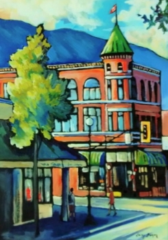 The Old Mann Drugs Building, Nelson 24x36