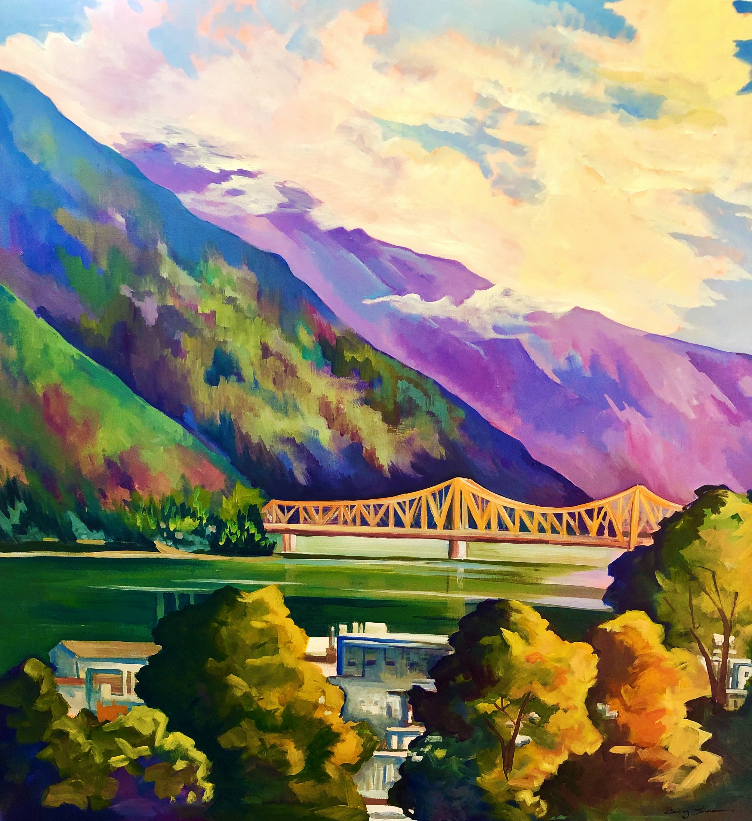 The Big Orange Bridge  30x40 $2100