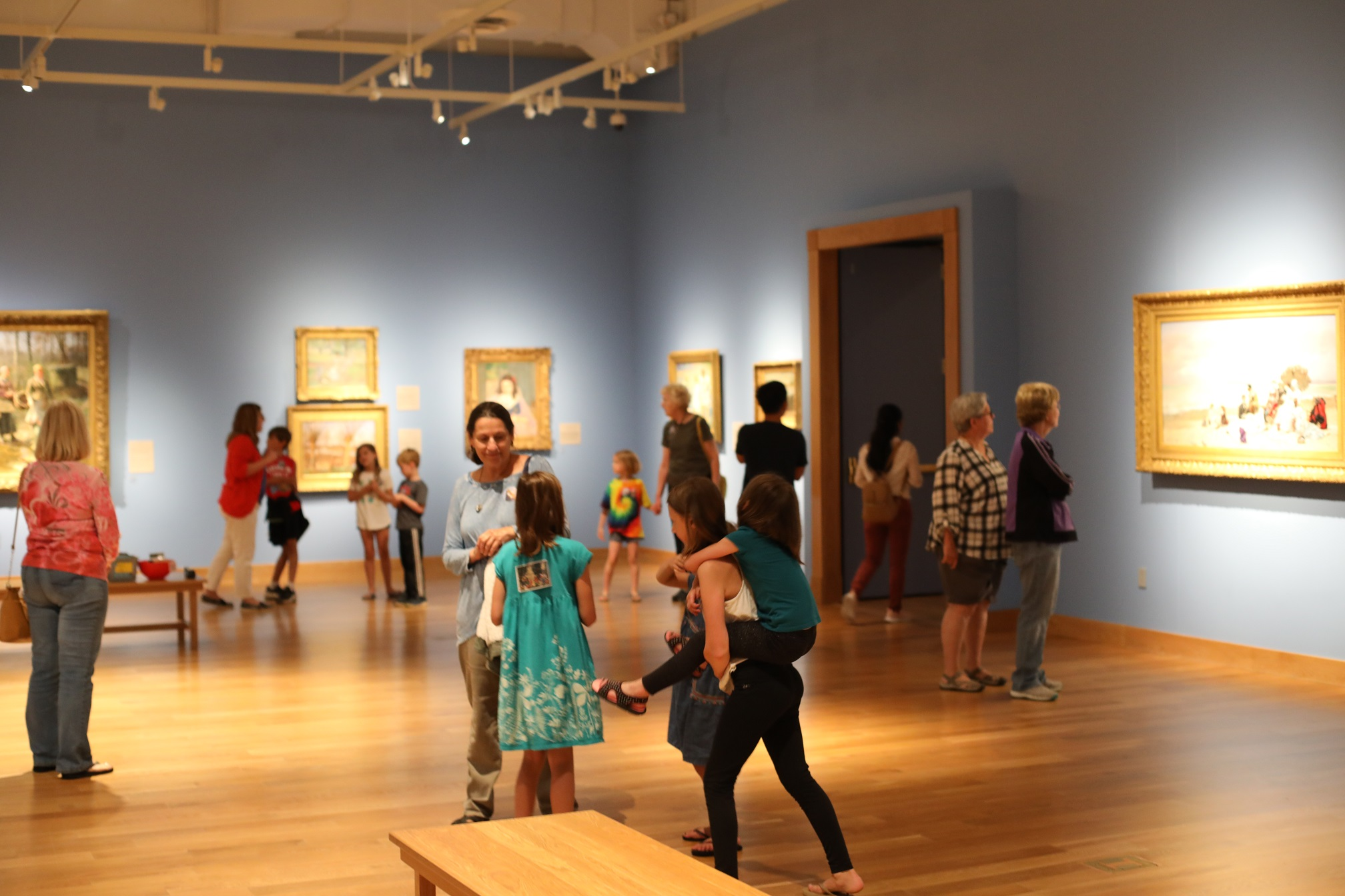 Children enjoy the galleries during  Second Saturday: Women in Art