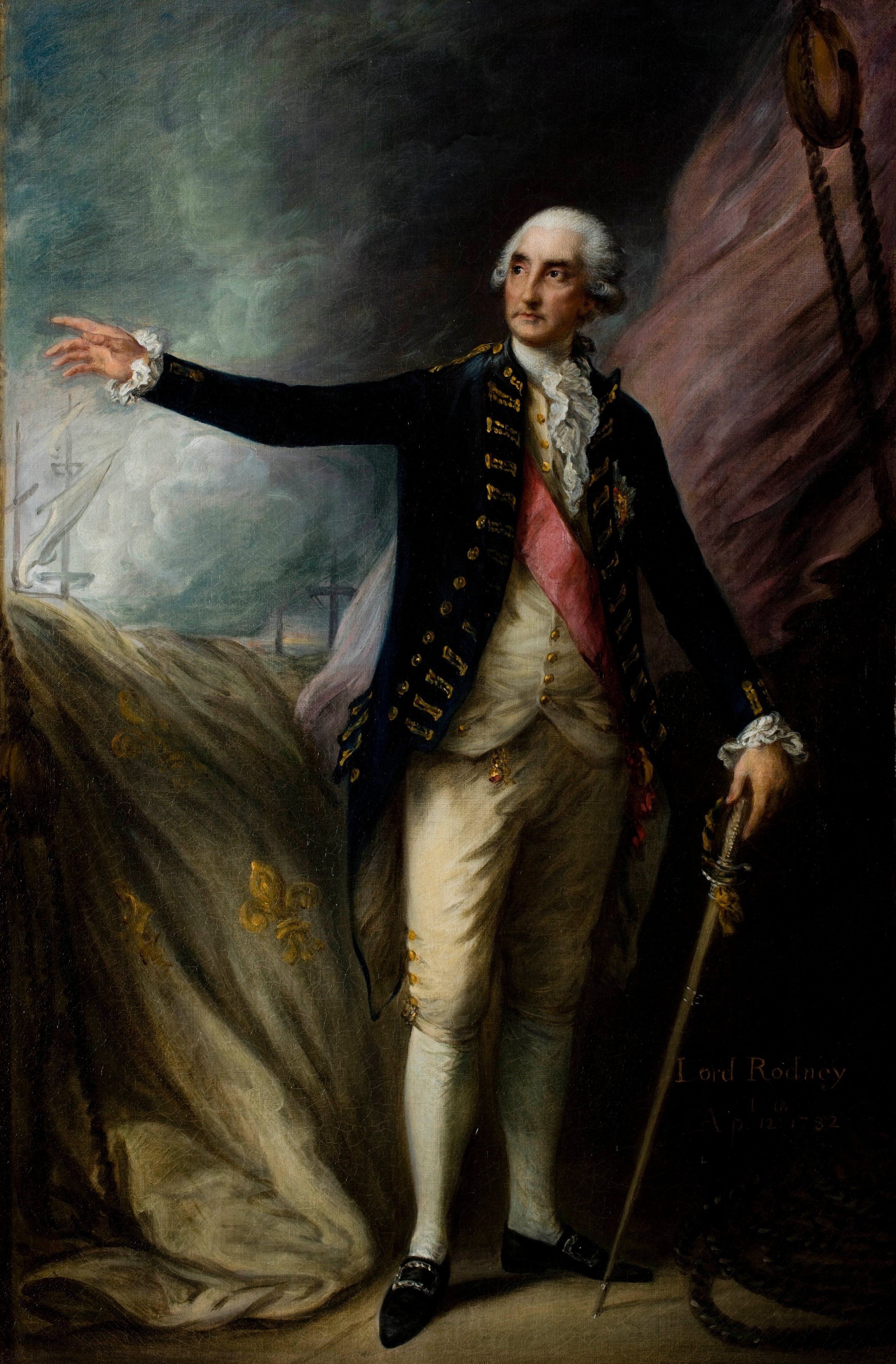 Thomas Gainsborough,  Portrait of George Brydges Rodney, 1st Lord Rodney , 1782. Oil on canvas.