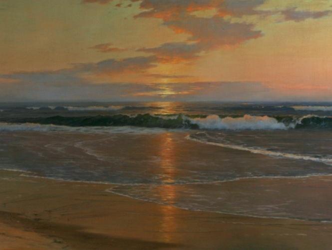 Warren Sheppard,  The Quiet Sea , c. 1893 (Detail). Permanent Collection.