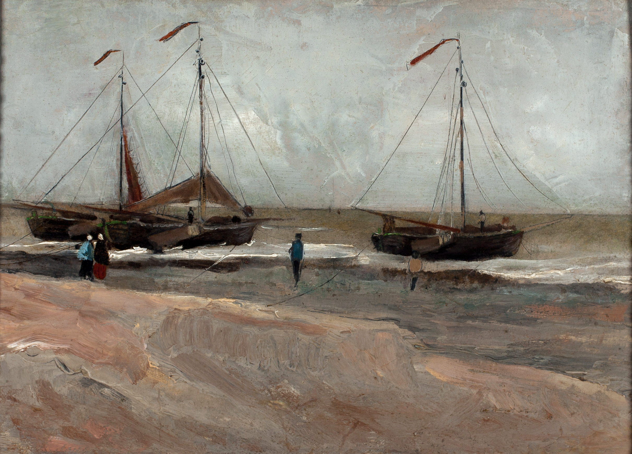 Vincent Van Gogh,  The Beach of Scheveningen,  1882. Oil on paper on panel. Minnesota Marine Art Museum.