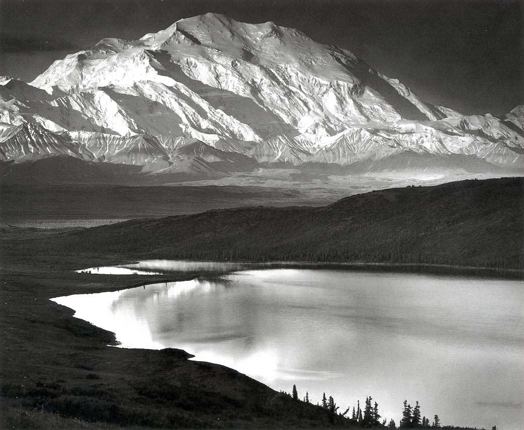 Ansel Adams,  Mount McKinley and Wonder Lake, Denali National Park ,  Alaska,  1947. © The Ansel Adams Publishing Rights Trust.