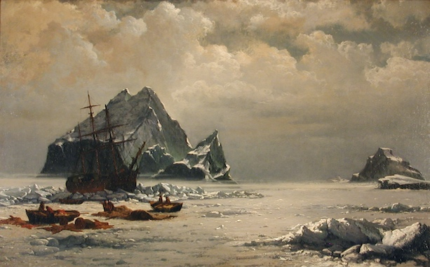 """""""Morning on the Arctic Ice Fields"""" (c.1880) oil on canvas by William Bradford. MMAM Collection."""