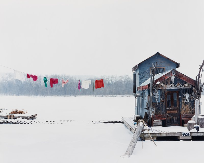 Peter's Houseboat, Winona, MN  (20024)  Alec Soth, American (b. 1969)  Chromogenic print  Lent by the Minneapolis Institute of Art, Bequest Harry Drake