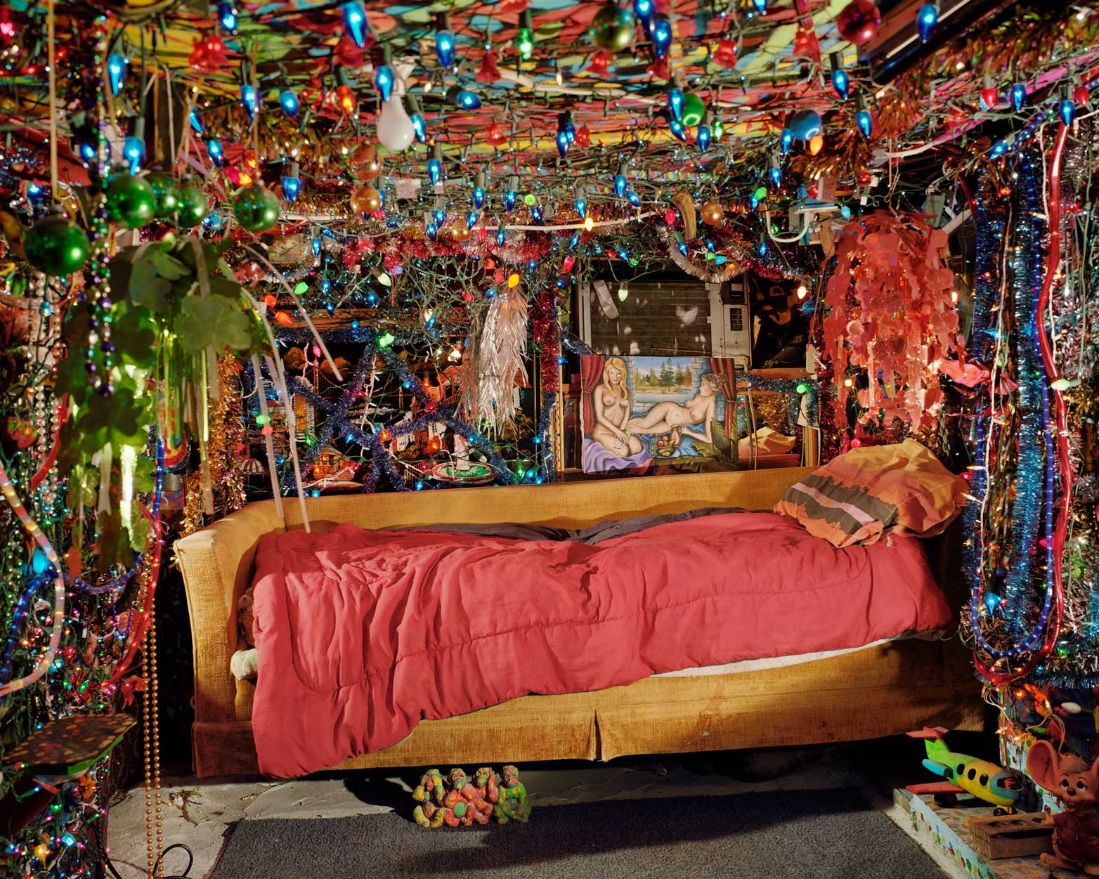 Herman's Bed, Kenner Louisiana ( 2002)  Alec Soth, American (b. 1969)  Chromogenic print  Lent by the Minneapolis Institute of Art, Gift of the artist and Dan and Mary Solomon