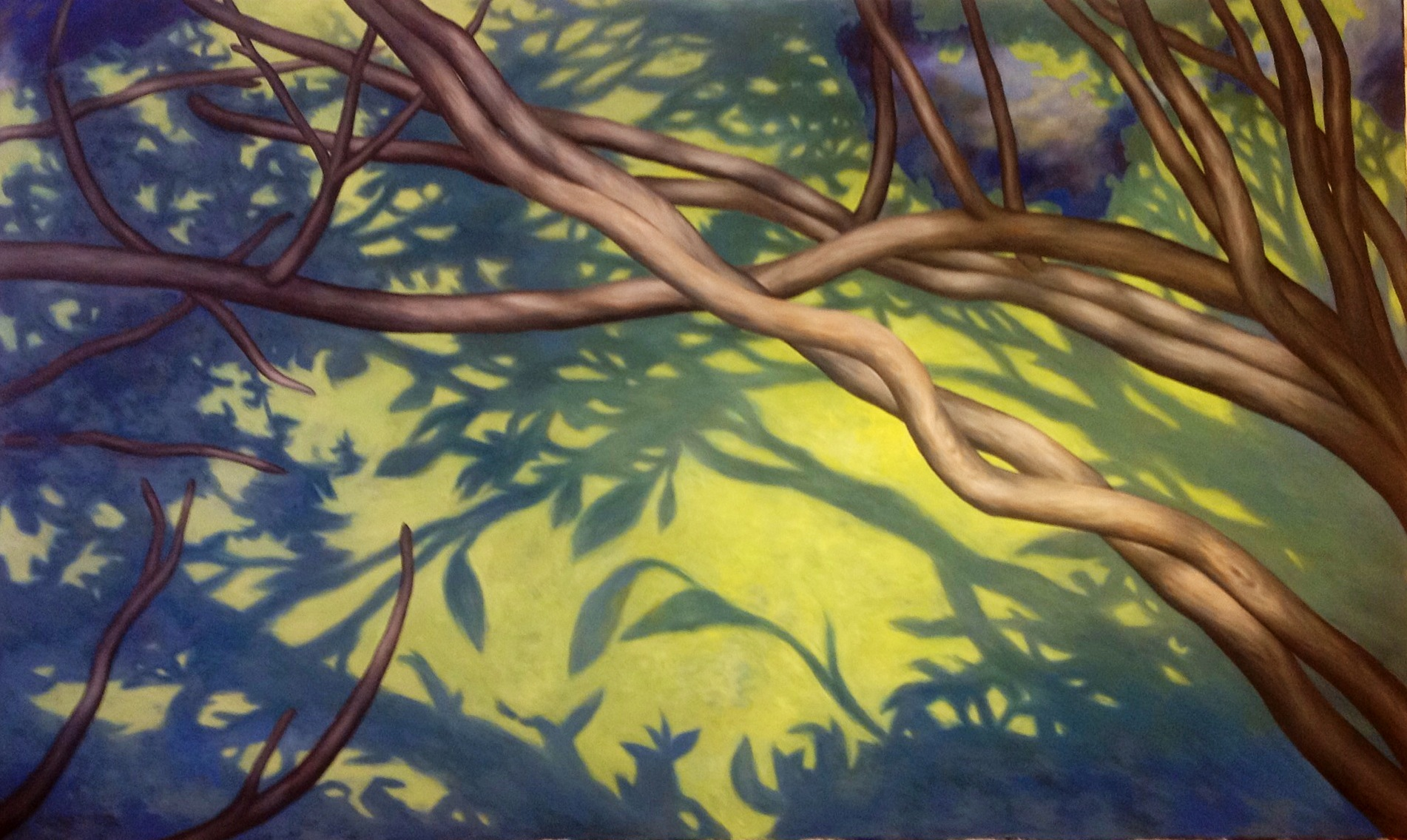 Julia Crozier, Morning River Shadow. Oil on canvas.
