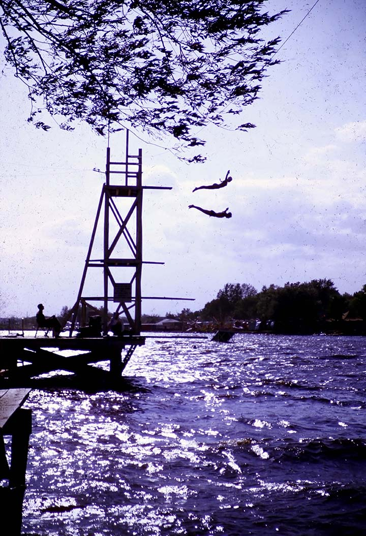 David Tewes (American, 1913-1991),  Water Carnival, Hutchinson, MN , 1950, Kodachrome slide.