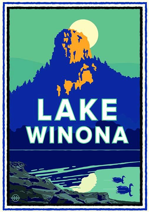 Mark Herman (American, born 1959),  Lake Winona , 2017, digital design, giclée print.