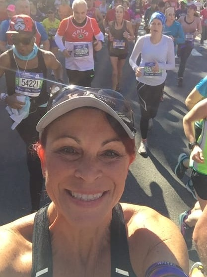 Race Director Ginger Johnson running the New York Marathon 2018
