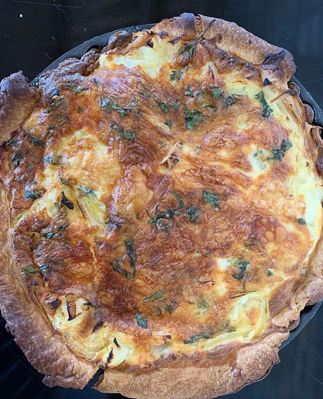 Tallegio, sweet onion & Mustard tart. This one is THE 💣