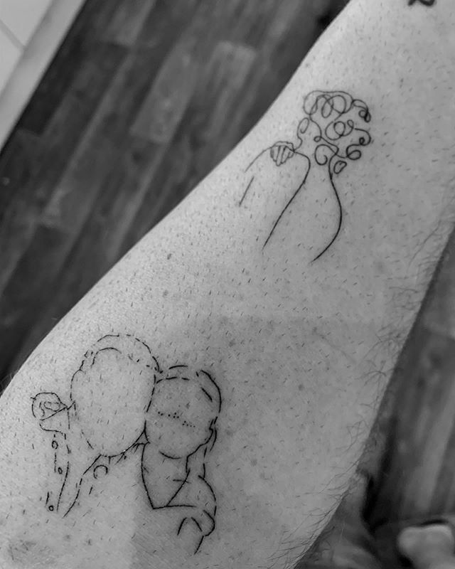 Huge thanks to @jonathanmckenzietattoo for skills behind the needle and to the insanely talented @sjgriffey for always totally nailing the illustrations. #tinytattoos #illustration #art