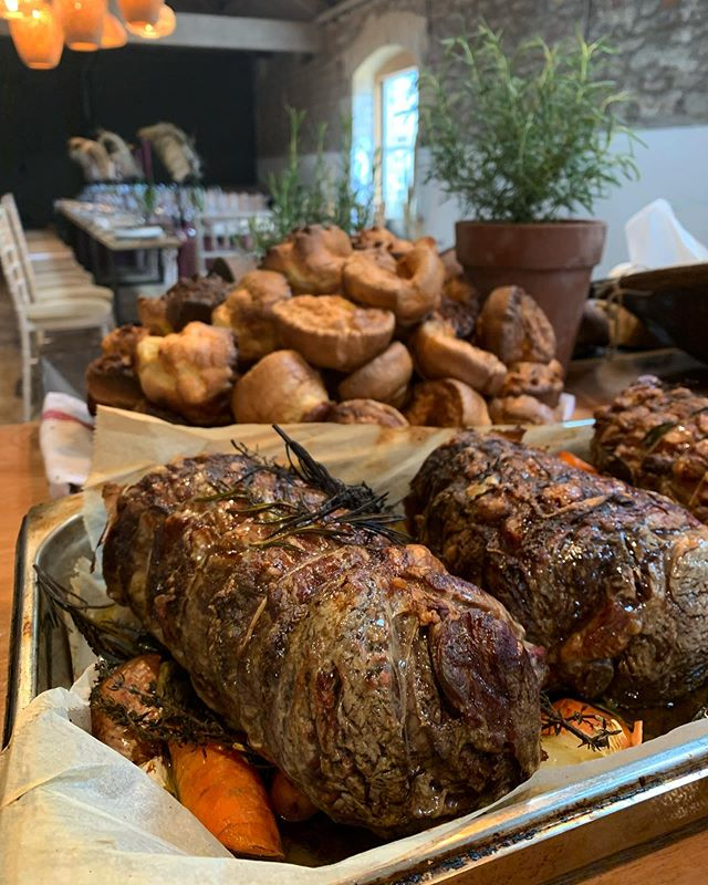 Hereford beef rib, Yorkshire puds #weddingfood  #weddingcatering  #bath #food #barn