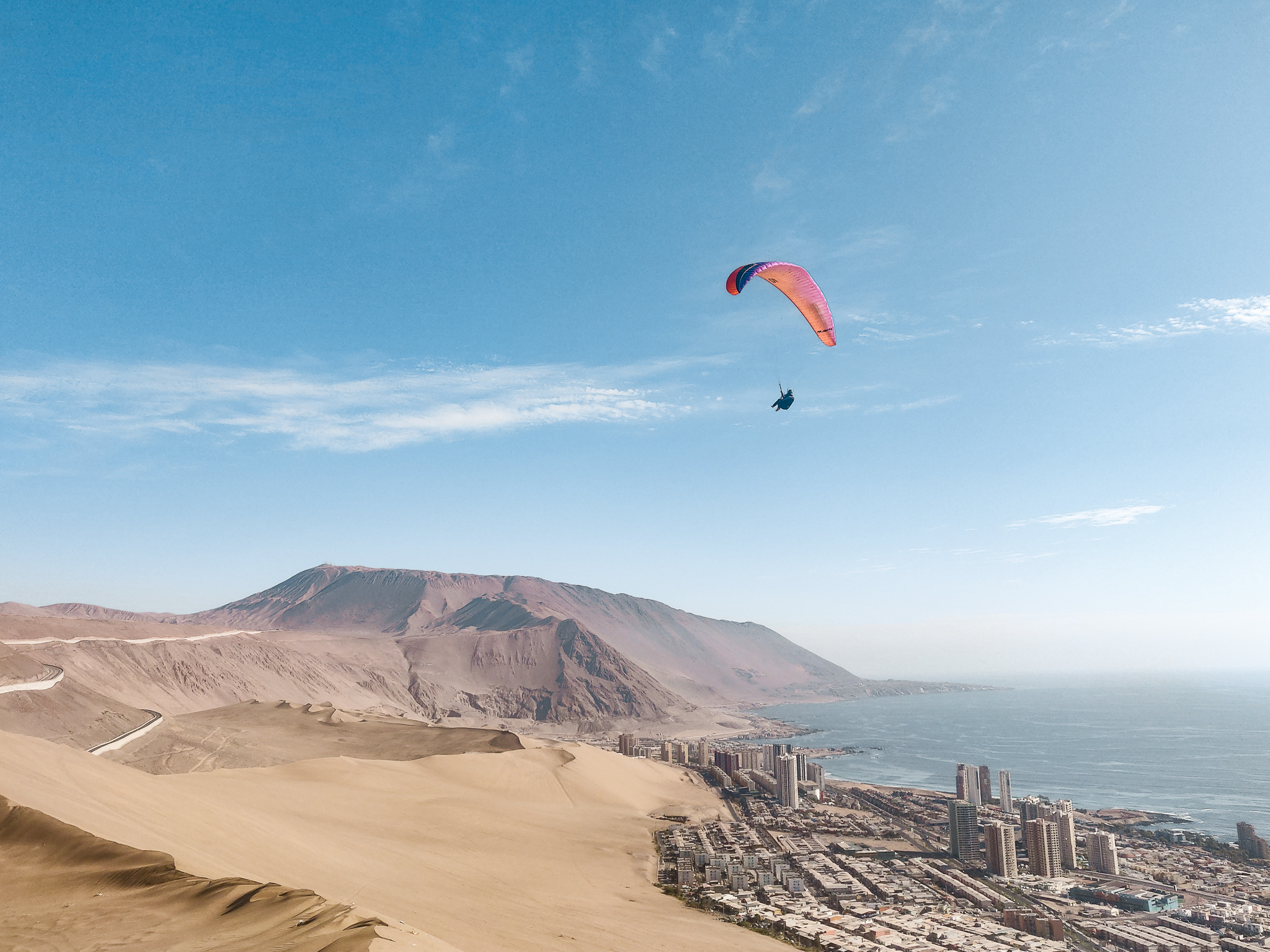 Alto Hospicio - The best XC flying for beginners and stunning views where the desert meets the ocean