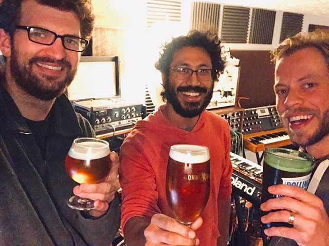 Just finished multi-tracking 12 studio songs in 11 days @black_bear_recording  #greygary #studiorecording #recordingstudio #recording #protools #cheers #synthesizers #efficientaf