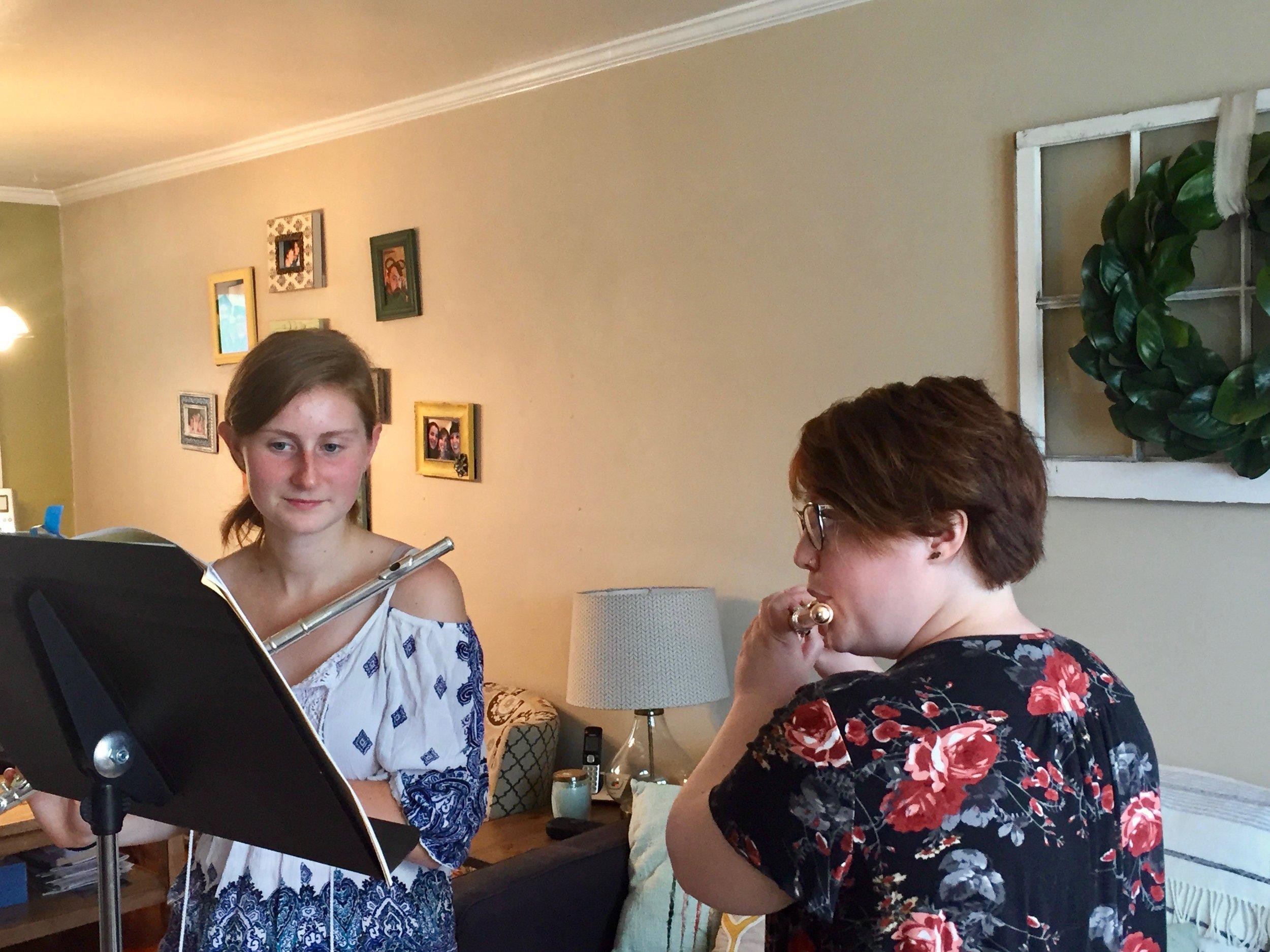 Caroline's Flute Lesson