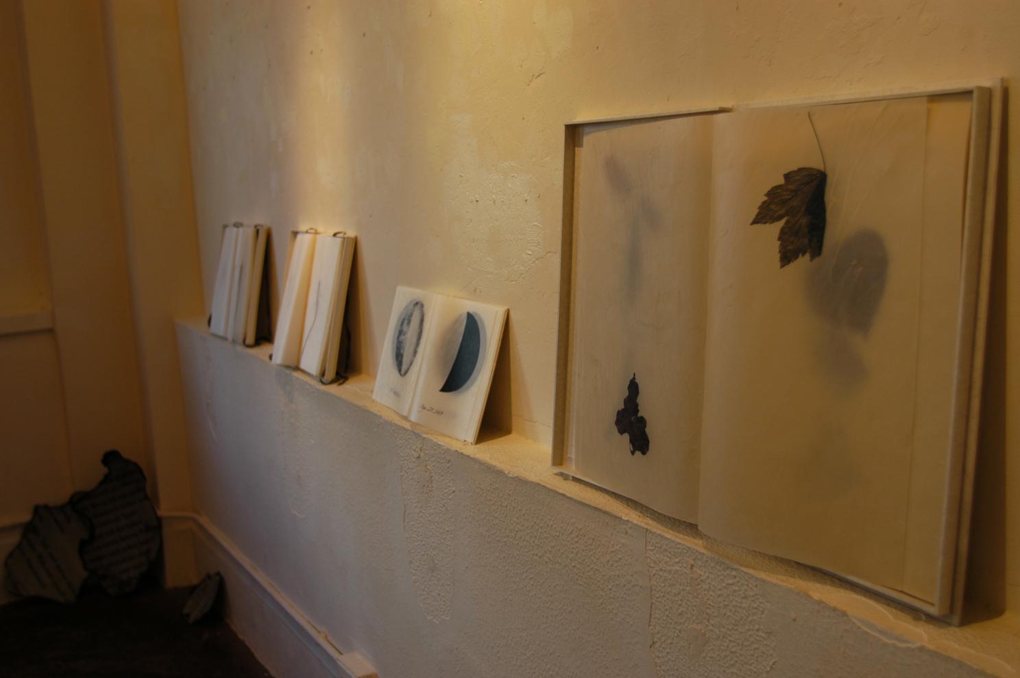 ADACHI Ryoko - book art, paper, shelf