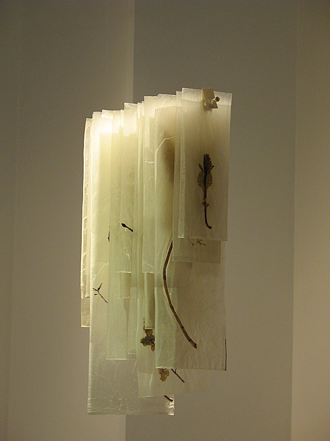 ADACHI Ryoko - book art, paper, hanging pages