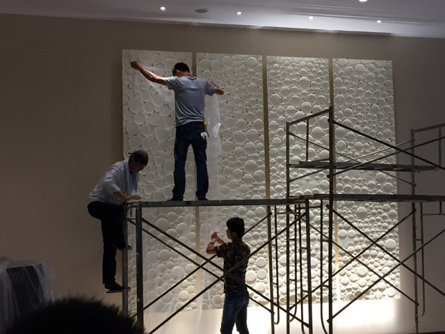 UCHIKURA Hitomi - Lumiere, paper, sculpture, installation