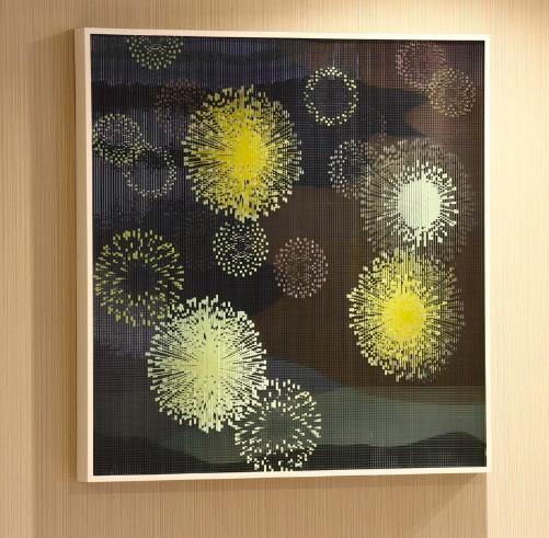 TOGASHI Youko, lenticular glass sculpture
